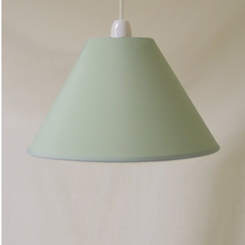 "12""Ct Mid Green Pvc Coolie Lampshade"
