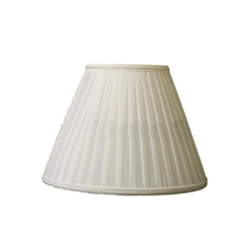 "14"" B/E Knife Edge Pleat Ivory Pongee Lampshade Ss1119"