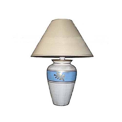 5743 Ceramic Table Complete Lamp Ivory
