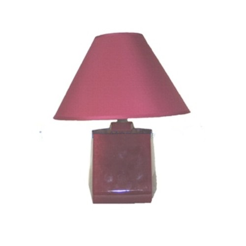 Wine Coloured Table Lampset Wine Lampset