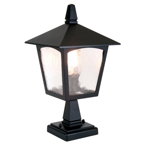 York Outdoor Post Light Bl7 Black