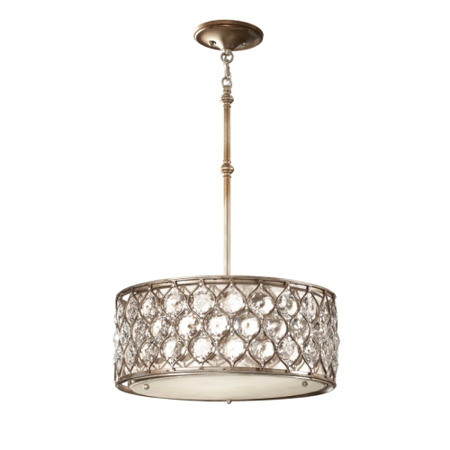 Lucia 3 Light Crystal Pendant Fe/Lucia/B