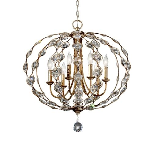 Leila Crystal 6 Light Pendant Fe/F2740/6Bus