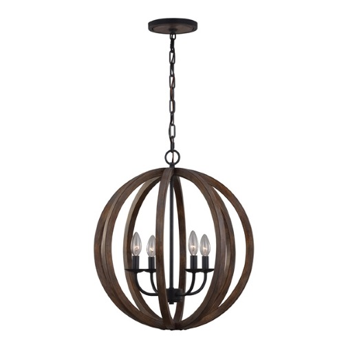 Allier 4 Light Pendant Fe/Allier/4P Ww