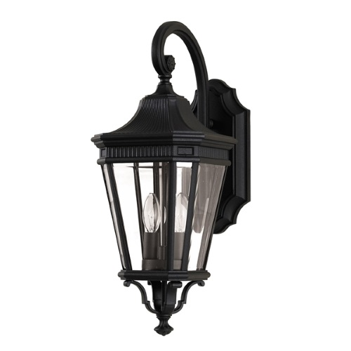 Cotswold Lane Outdoor Wall Lantern Fe/Cotsln2/M Bk