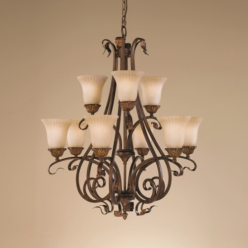Bronze Pendant 9 Light Fe/Sonomaval9