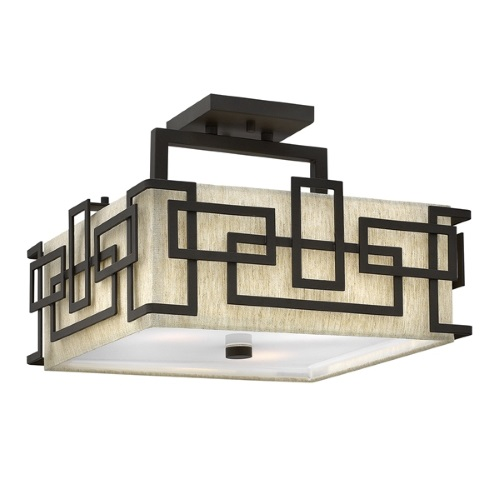 HK/LANZA/SF Lanza Semi-Flush Triple Ceiling Light