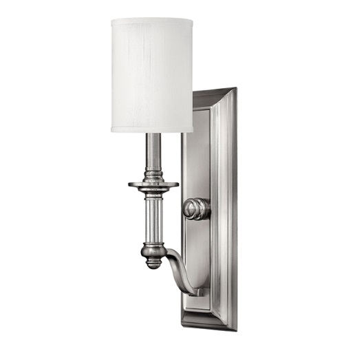 Sussex Brushed Nickel Wall Light Hk/Sussex1