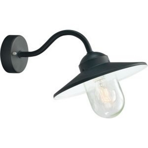 Karlstad Black With Clear Lens Wall Light Karlstad Blk C