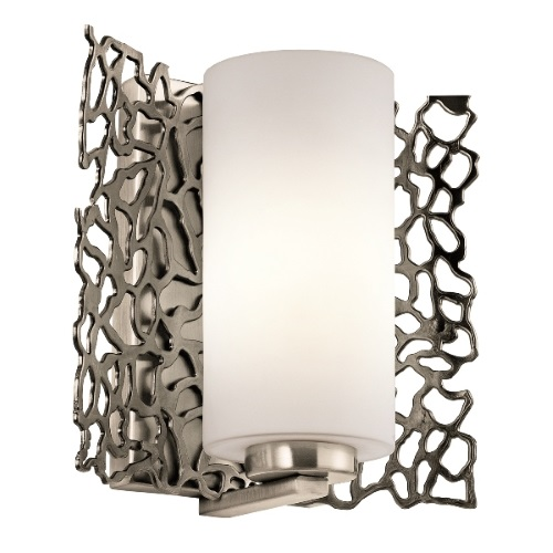 KL/SILCORAL1 Silver Coral Pewter Wall Light