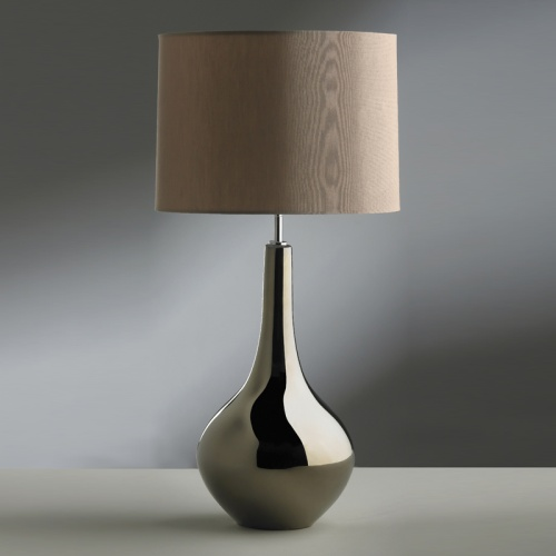Bronze Finish Table Lamp With Lampshade Lui/Job Ls1087