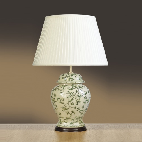Table Lamp Lui/Green Leaves Ls1046