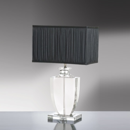 LUI/LIONA LS1005 Crystal Table Lamp With Black Shade