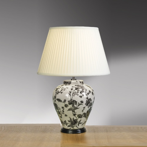 Traditional Peonies Table Lamp Lui/Peonies Trad Ls1042