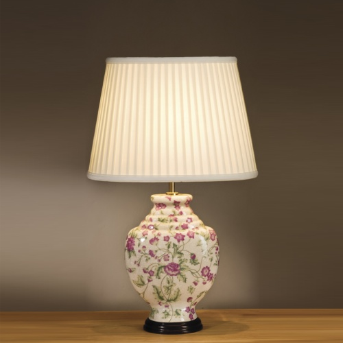 Pink Flower Table Lamp Lui/Pink Carn Ls1046