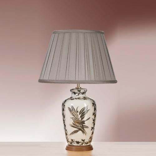 LUI/ETCHED BIRDS + LUI/LS1119 Brown Table Lamp