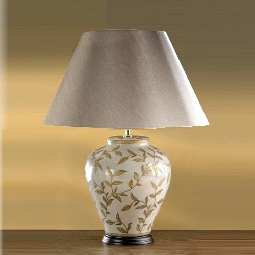Table Lamp Lui/Leaves Br/Gl Ls1034
