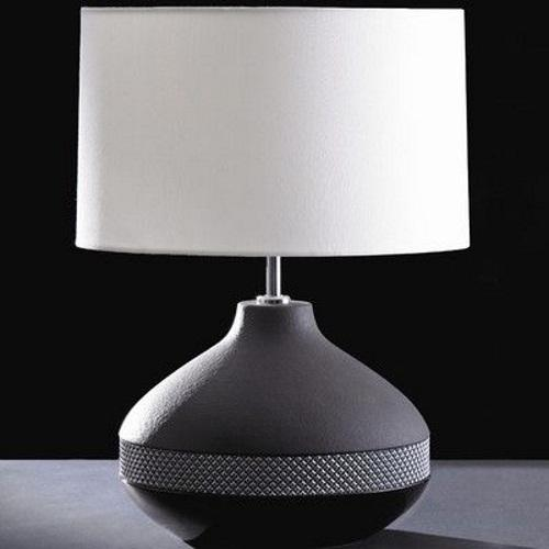 LUI/MAX ROUND + LUI/LS1027 Black Table Lamp