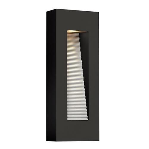 Luna LED Satin Black Outdoor Wall Light Hk/Luna/M Sk