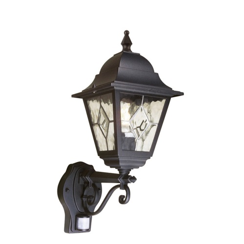Norfolk Outdoor PIR Wall Light Nr1 PIR Black