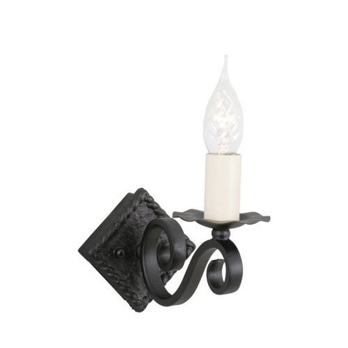 Rectory Wrought Black Wall Light Ry1a Black
