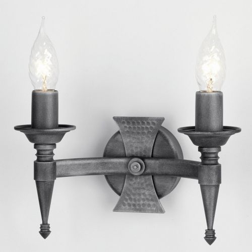 SAX2 BLK/SIL Saxon Double Wall Light