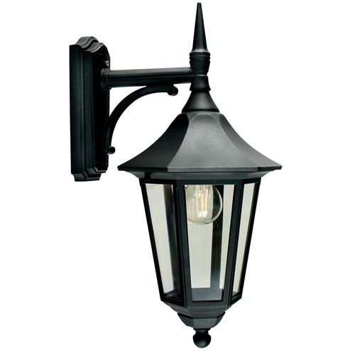 Valencia Outdoor Wall Lantern V2 Black