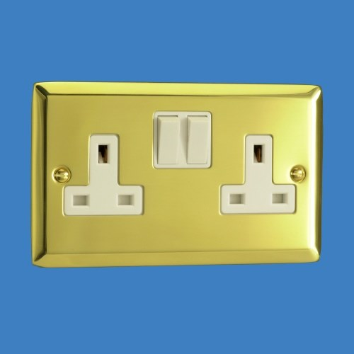XV5W 2 Gang 13a Double Wall Socket