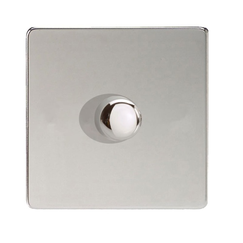 400W 1 Gang Dimmer Chrome Idcp401s