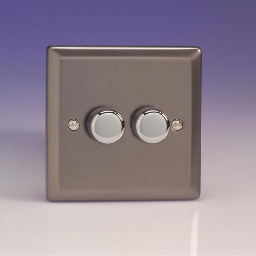 V-Pro Classic Low Load Double Dimmer Switch Jrp252