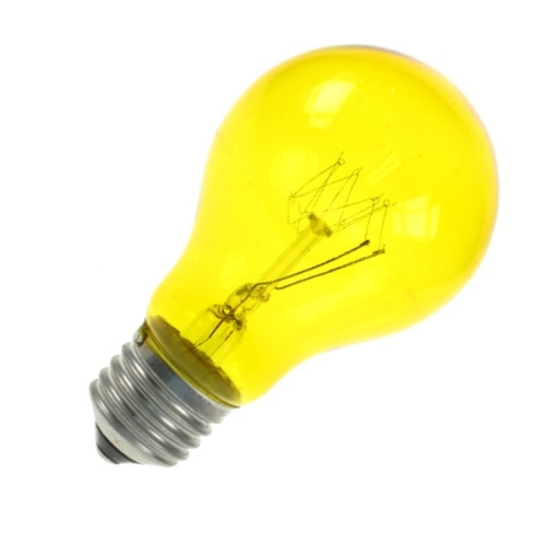 Lamp GLS 60W ES Yellow Colourglazed