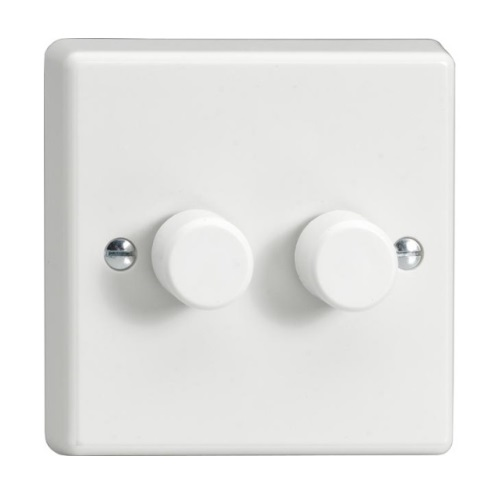 V-Dim White Rotary 2-Way Dimmer HQ83W