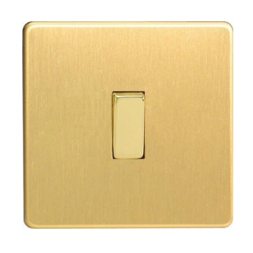 XDB1S Brushed Brass Switch 1 Gang