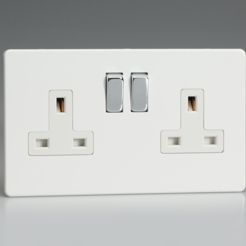2 Gang White Double Socket XDQ5WS