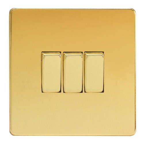 Triple Polished Brass Switch Xdv3s