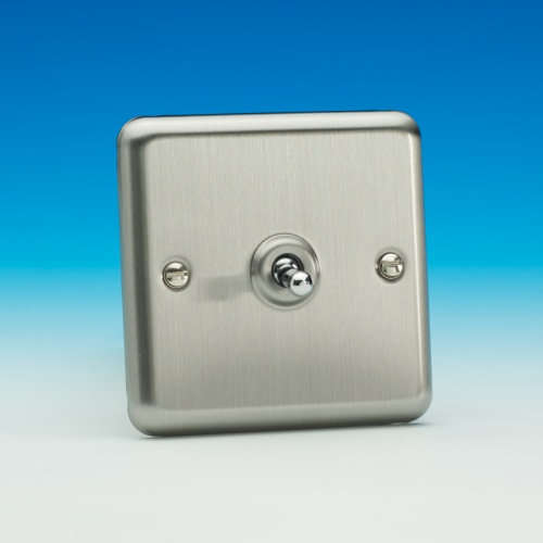 Matt Chrome Toggle Switch Xst1 The Lighting Superstore