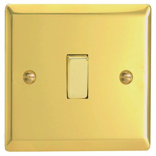 Victorian Brass Wall Switch XV1D