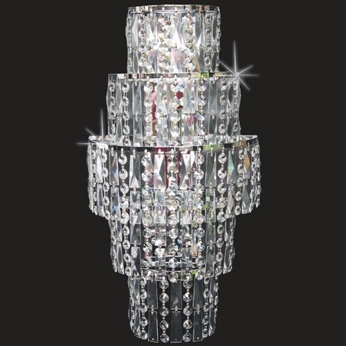 CF03220/WB/CH New York Crystal Wall Light