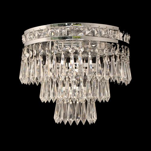 Dian Crystal Semi Flush Ceiling Light Cf311221/03/Pl/N