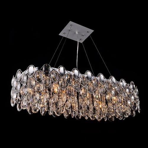 Raina Oblong Crystal Ceiling Pendant Cf412181/10/Obl/Ch