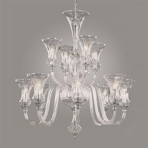 CBO5444/12 Stara Crystal Tiered Ceiling Fitting