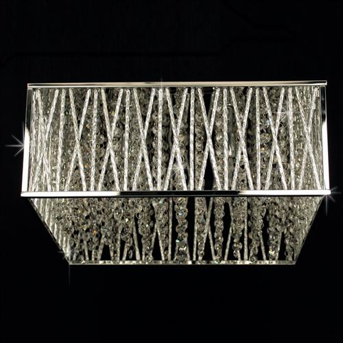 CFH310221/04/PL/CH Melenki Flush Crystal Ceiling Light