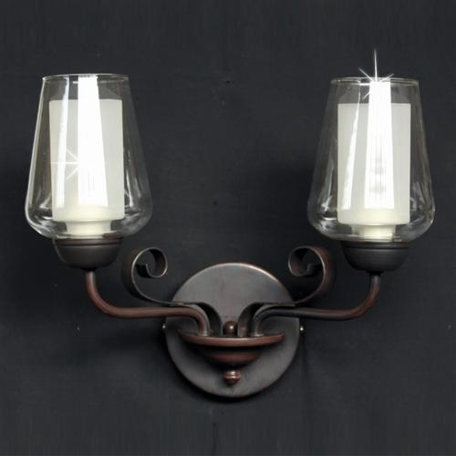PG412172/02/WB/DBRZ Devan Double Wall Light