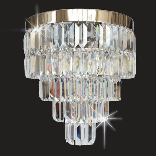 Crystal Art Semi Flush Ceiling Light St508123/40/05/Ch