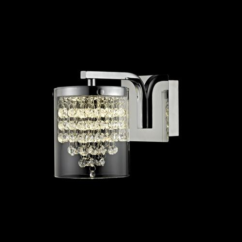 Florina Crystal Polished Chrome LED Wall Light Led608242/01/Wb/Ch