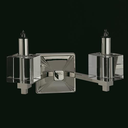 Monza Nickel Finished Double Wall Light Sth06030/02/Wb/N