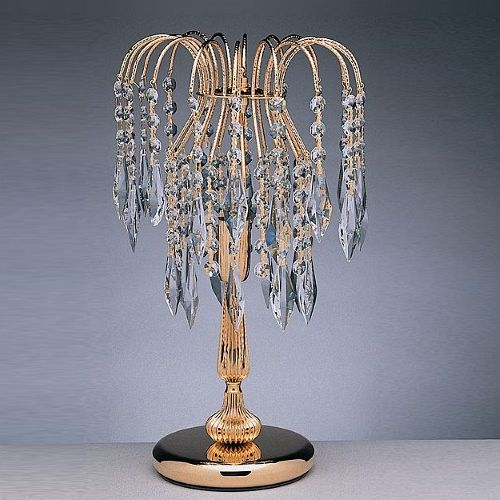 Shower Gold Plated Crystal Table Lamp, Chandelier Table Lamps Uk