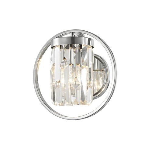 Talin Polished Chrome Crystal Wall Light Cf1703/01/Wb/Ch