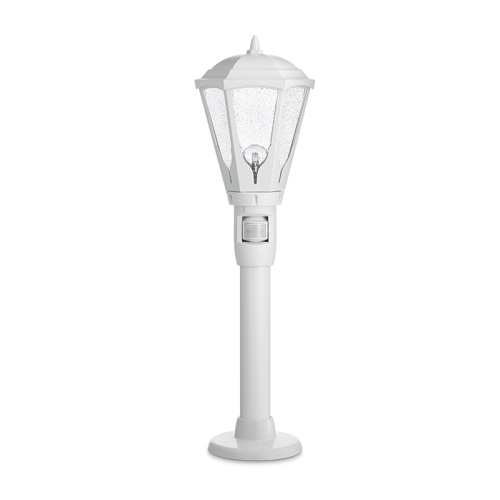 gl16s ip44 white sensor post light gl16s white the. Black Bedroom Furniture Sets. Home Design Ideas