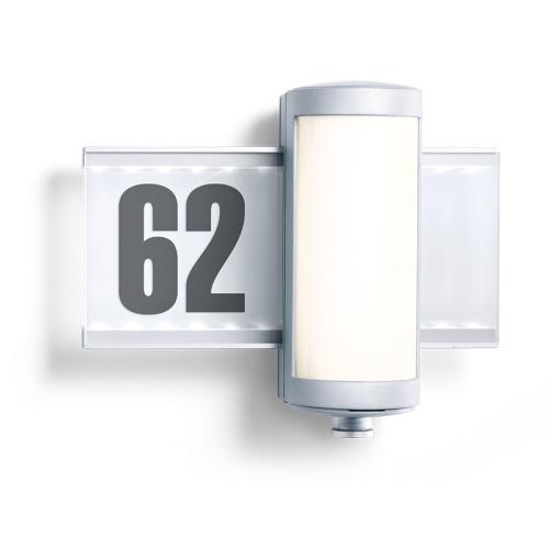 house number sign pir wall light l 625 led the lighting. Black Bedroom Furniture Sets. Home Design Ideas